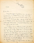 Books:Mystery & Detective Fiction, [Dorothy L. Sayers, as Peter Wimsey]. Autograph Letter, Signed. Norfolk: May 21, 1936. Original letter.. ...