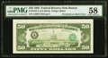 Third Printing on Back Error Fr. 2122-A $50 1985 Federal Reserve Note. PMG Choice About Unc 58
