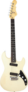 Musical Instruments:Electric Guitars, Circa 1983 G & L Cavalier White Solid Body Electric Guitar, Serial # G012606....