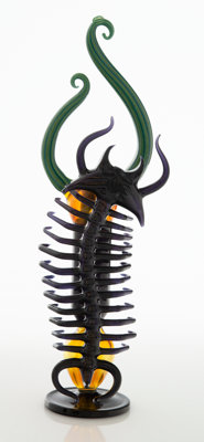 Darby Holm & Buck Trilobite King, 2012 Functional glass 14-1/4 x 4 x 5 inches (36.2 x 10.2 x 12.7