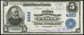National Bank Notes:Kentucky, Paris, KY - $5 1902 Plain Back Fr. 598 The First NB Ch. # 6323 Very Fine-Extremely Fine.. ...