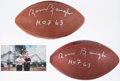 "Autographs:Footballs, Sammy Baugh ""H.O.F. 63"" Signed Football Lot of 2. ..."