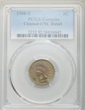 1908-S 1C Brown -- Cleaning -- PCGS Genuine. UNC Details. NGC Census: (1/373). PCGS Population: (8/392). CDN: $230 Whsle...