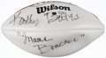 "Autographs:Footballs, Kathy Bates ""'Mama Boucher""' Signed Football...."