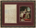 Autographs:Letters, 1851 Queen Victoria Signed Framed Letter....