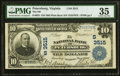 National Bank Notes:Virginia, Petersburg, VA - $10 1902 Plain Back Fr. 625 The NB of PetersburgCh. # (S)3515 PMG Choice Very Fine 35.. ...