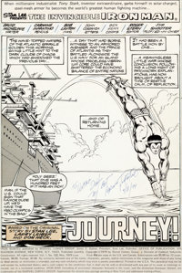 Carmine Infantino and Bob Layton Iron Man #122 Splash Page 1 Sub-Mariner Original Art (Marve