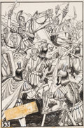 Original Comic Art:Splash Pages, Henry C. Kiefer Classics Illustrated #68 Julius Caesar Unused Splash Page Original Art (Gilberton, 195...