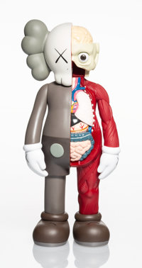 KAWS (American, b. 1974) Dissected Companion, 2006 Painted cast vinyl 14-3/4 x 6-1/2 x 3-1/2 inch