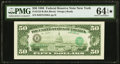 Error Notes:Third Printing on Reverse, Third Printing on Back Error Fr. 2123-B $50 1988 Federal Reserve Note. PMG Choice Uncirculated 64 EPQ*.. ...