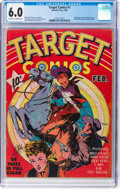 Golden Age (1938-1955):Adventure, Target Comics #1 (Novelty Press, 1940) CGC FN 6.0 Off-white towhite pages....
