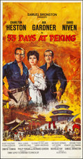 "Movie Posters:Adventure, 55 Days at Peking (Allied Artists, 1963). Folded, Very Fine. ThreeSheet (41"" X 79""). Howard Terpning Artwork. Adventure.. ..."