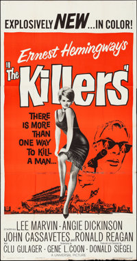 "The Killers (Universal, 1964). Folded, Fine/Very Fine. Three Sheet (41"" X 78.5""). Crime"
