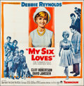 """Movie Posters:Comedy, My Six Loves (Paramount, 1963). Folded, Very Fine. Six Sheet (79"""" X 80""""). Comedy.. ..."""