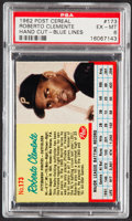 Baseball Cards:Singles (1960-1969), 1962 Post Cereal Roberto Clemente (Blue Lines) #173 PSA EX-MT 6....
