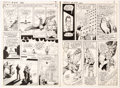 Original Comic Art:Panel Pages, Curt Swan and Murphy Anderson Superman #270 Story Pages 2 and 3 Original Art (DC Comics, 1973).... (Total: 2 Items)