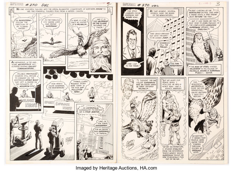 Curt Swan and Murphy Anderson Superman #270 Story Pages 2 and 3