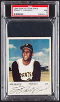 Baseball Cards:Singles (1960-1969), 1969 Pirates Team Issue Roberto Clemente PSA NM 7....