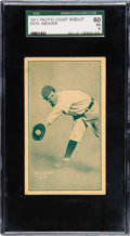 Baseball Cards:Singles (Pre-1930), 1911 D310 Pacific Coast Biscuit Buck Weaver SGC 60 EX 5 - None Higher....
