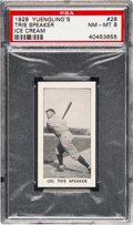 Baseball Cards:Singles (Pre-1930), 1928 Yuengling's Ice Cream Tris Speaker #28 PSA NM-MT 8 - None Higher....