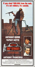 "Movie Posters:Crime, Across 110th Street (United Artists, 1972). Folded, Very Fine+.International Three Sheet (41"" X 77""). Crime.. ..."
