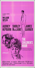 """Movie Posters:Drama, The Children's Hour (United Artists, 1962). Folded, Very Fine+.Three Sheet (41"""" X 70""""). Drama.. ..."""