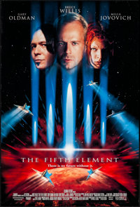 "The Fifth Element (Columbia, 1997). Rolled, Very Fine. One Sheet (26.75"" X 39.75"") DS. Science Fiction"