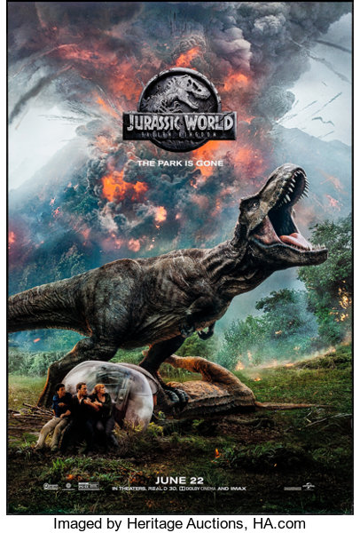 Jurassic World: Fallen Kingdom (Universal, 2018)  Rolled, Near | Lot
