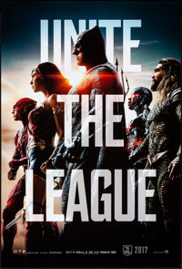"""Justice League (Warner Bros., 2017). Rolled, Very Fine/Near Mint. One Sheet (27"""" X 40"""") DS Advance. Action..."""