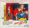 "Movie Posters:Adventure, Run for the Sun (United Artists, 1956). Folded, Fine. Six Sheet(80"" X 78""). Adventure.. ..."
