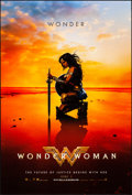 "Movie Posters:Action, Wonder Woman (Warner Brothers, 2017). Rolled, Near Mint. One Sheet(27"" X 40"") DS Teaser, Kneeling Style. Action.. ..."