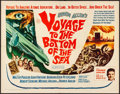 """Movie Posters:Adventure, Voyage to the Bottom of the Sea (20th Century Fox, 1961). Folded, Very Fine-. Half Sheet (22"""" X 28""""). Adventure.. ..."""