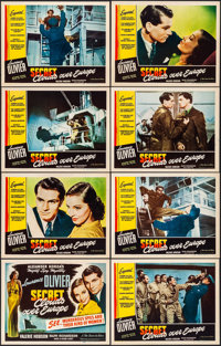 """Clouds Over Europe (Film Classics, R-1947). Very Fine+. Lobby Card Set of 8 (11"""" X 14""""). Thriller. ... (Total:..."""