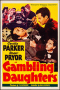 """Movie Posters:Crime, Gambling Daughters (PRC, 1941). Folded, Overall: Fine/Very Fine.One Sheet (27"""" X 41""""), Title Lobby Card, & Lobby Cards (7) ...(Total: 9 Items)"""