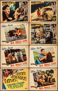 Movie Posters:Adventure, Her Jungle Love (Paramount, 1938). Fine/Very Fine. Lobby Cards (4),Other Company Title Lobby Card, & Other Company Lobby Ca...(Total: 8 Items)