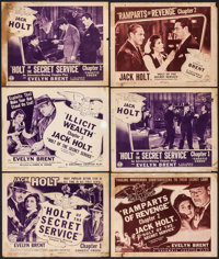 "Holt of the Secret Service (Columbia, 1941). Fine. Title Lobby Cards (3) & Lobby Cards (8) (11"" X 14"")..."