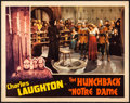 "Movie Posters:Horror, The Hunchback of Notre Dame (RKO, 1939). Very Fine-. Lobby Card(11"" X 14""). Horror.. ..."