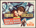 "Movie Posters:Film Noir, Kiss the Blood Off My Hands (Universal International, 1948). VeryFine-. Title Lobby Card (11"" X 14""). Film Noir.. ..."