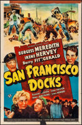 "Movie Posters:Mystery, San Francisco Docks (Universal, 1941). Folded, Fine+. One Sheet(27"" X 41"") & Lobby Card Set of 8 (11"" X 14""). Mystery.. ...(Total: 9 Items)"
