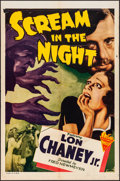 """Movie Posters:Crime, Scream in the Night (Astor, R-1943). Folded, Fine/Very Fine. OneSheet (27"""" X 41"""") & Lobby Card Set of 8 (11"""" X 14""""). Crime....(Total: 9 Items)"""