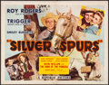 "Movie Posters:Western, Silver Spurs (Republic, 1943). Folded, Fine/Very Fine. Half Sheet(22"" X 28""). Western.. ..."