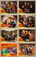 "Movie Posters:Western, South of Santa Fe (Republic, 1942). Very Fine. Lobby Card Set of 8(11"" X 14""). Western.. ... (Total: 8 Items)"