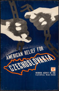 """Movie Posters:War, American Relief for Czechoslovakia (1940s). Rolled, Very Fine-.Poster (14"""" X 22""""). War.. ..."""