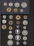 Rhodesia & Nyas: , Rhodesia & Nyas: Mixed Mint Sets, including (2) 1955 and (1) 1957 dated sets. Included in each set are Half Penny through Half Crown coins. ... (Total: 4 sets Item)
