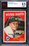 Baseball Cards:Singles (1950-1959), 1959 Topps Mickey Mantle #10 BVG NM-MT+ 8.5. High-...
