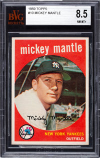 1959 Topps Mickey Mantle #10 BVG NM-MT+ 8.5