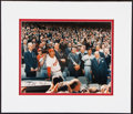 Autographs:Photos, President Richard Nixon Signed First Pitch Photograph Display....