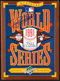 1991 Kirby Puckett Signed World Series Program