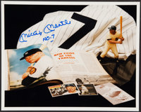 """c. 1990s Mickey Mantle """"NO. 7"""" Signed Photograph.... (Total: 0 item)"""