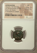 Ancients:Byzantine, Ancients: OSTROGOTHS. Athalaric (AD 526-534). AE decannumium (17mm, 3.74 gm, 5h). NGC VF 4/5 - 3/5....